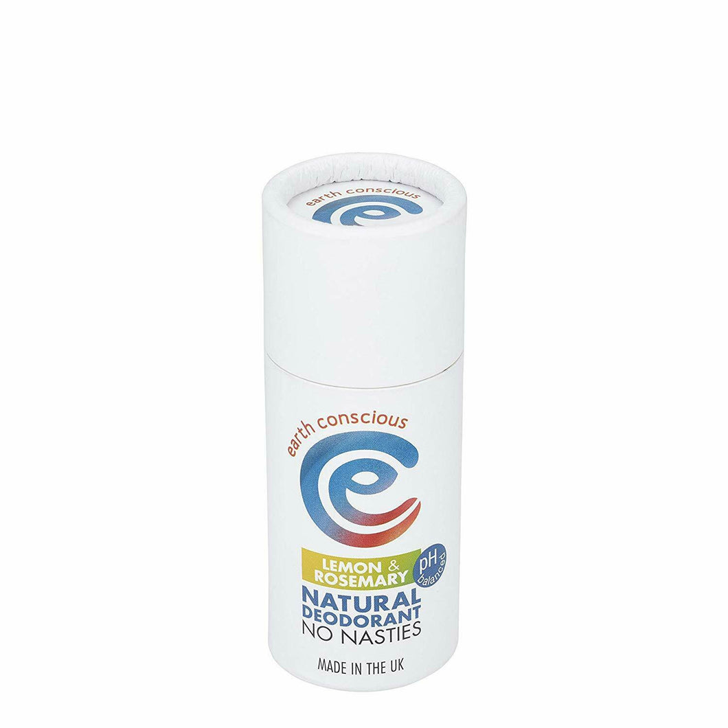 Earth Conscious Plastic Free Deodorant - Lemon & Rosemary Vegan