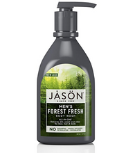 Load image into Gallery viewer, Jason Body Wash Shower Gel Pump organic aloe vera rosewater mens coconut herbs