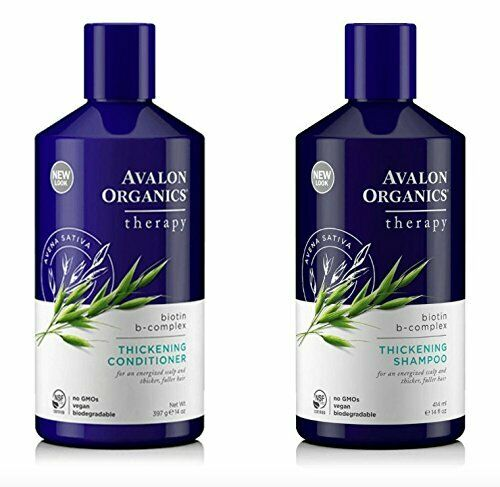 Avalon Organics Biotin B-Complex Thickening Shampoo Conditioner 400ml Thickening