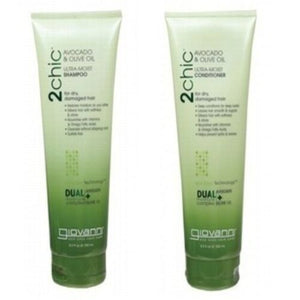 Giovanni 2 Chic Avocado & Olive oil shampoo & conditioner set Dry Damaged Hair