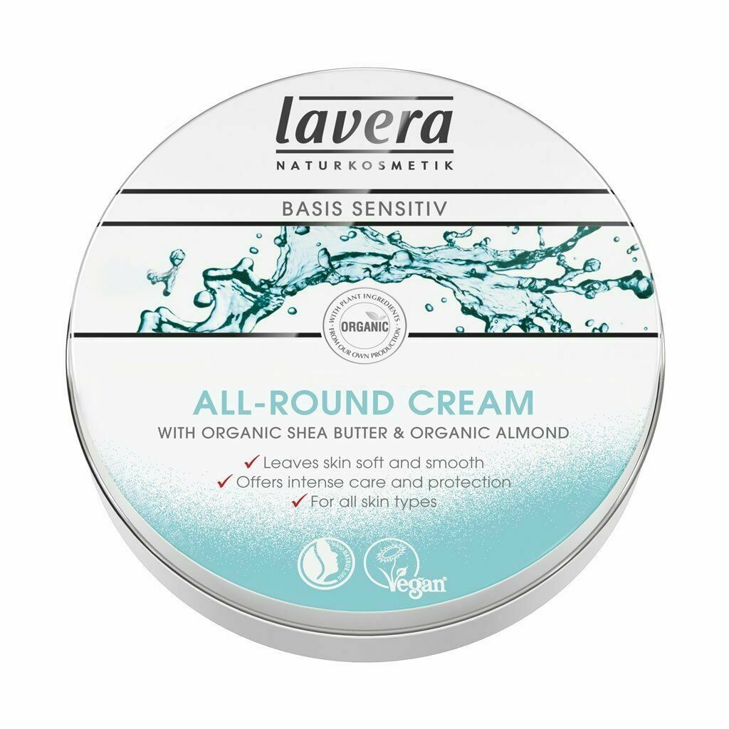 Lavera Basis Sensitive All Round Cream Organic vegan plastic free Shea Butter