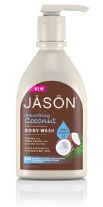 Jason Body Wash Shower Gel Pump organic aloe vera rosewater mens coconut herbs