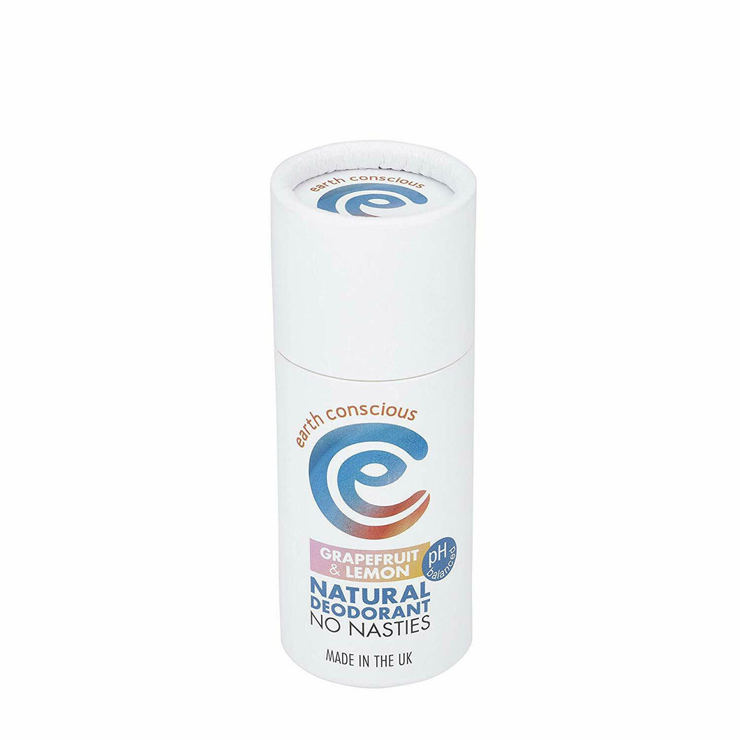 Earth Conscious Plastic Free Deodorant - Grapefruit & Lemon Vegan