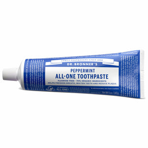 Dr Bronner's Toothpaste organic vegan Anise Cinnamon Peppermint  No fluoride