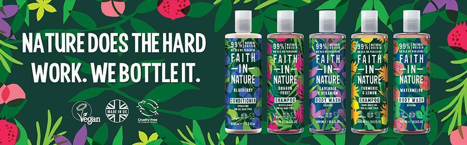 Faith in Nature Shampoo & Shower  Bath Gel Duo Gift Hair Body 400ml