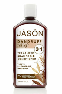 Jason  2 in 1-Dandruff Relief Shampoo & Conditioner 360ml - Paraben Free