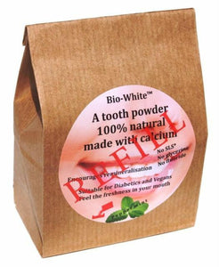 Peppermint Tooth Powder paste Refill 100% Natural Made with Calcium plastic free
