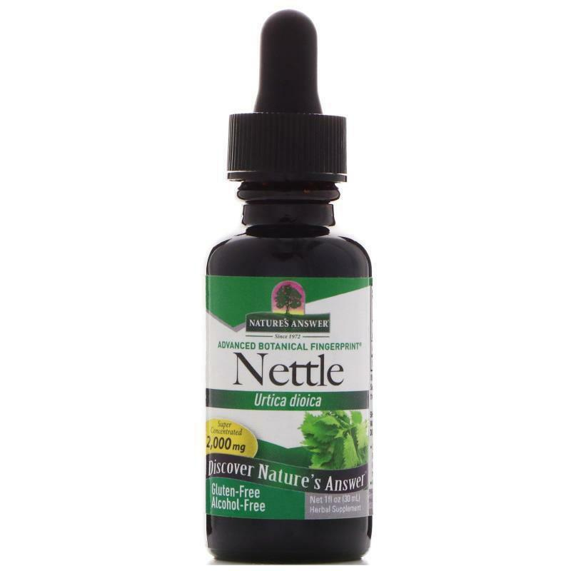 Nature's Answer, Nettle, Urtica Dioica, 2,000 mg, 1 fl oz 30 ml Alcohol-Free