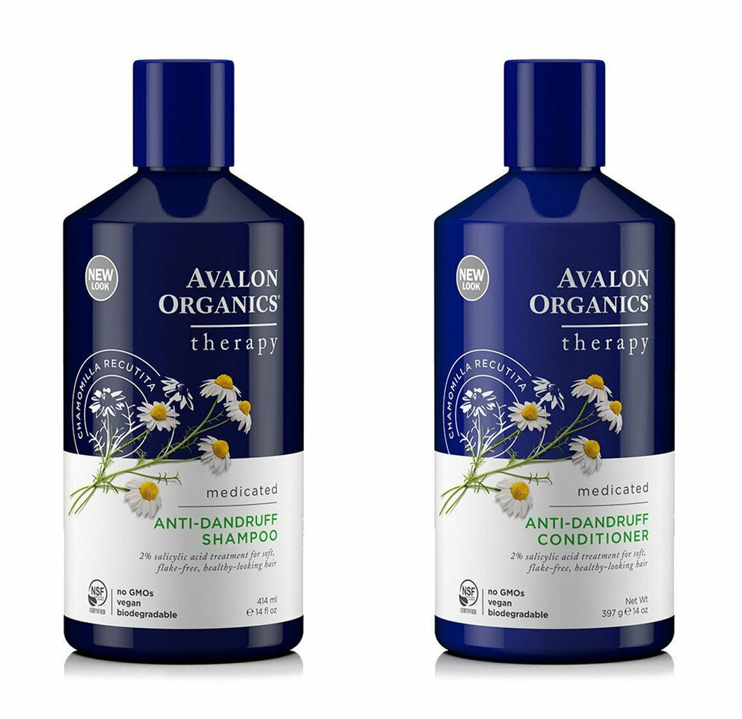 Avalon Organics Medicated Anti Dandruff Shampoo & Conditioner