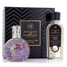 Load image into Gallery viewer, Ashleigh & Burwood Pearlescense Lamp Fragrance Fresh Linen oil Gift Set