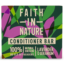 Load image into Gallery viewer, Faith in Nature Shampoo & Conditioner BAR Set Natural Vegan Plastic Free