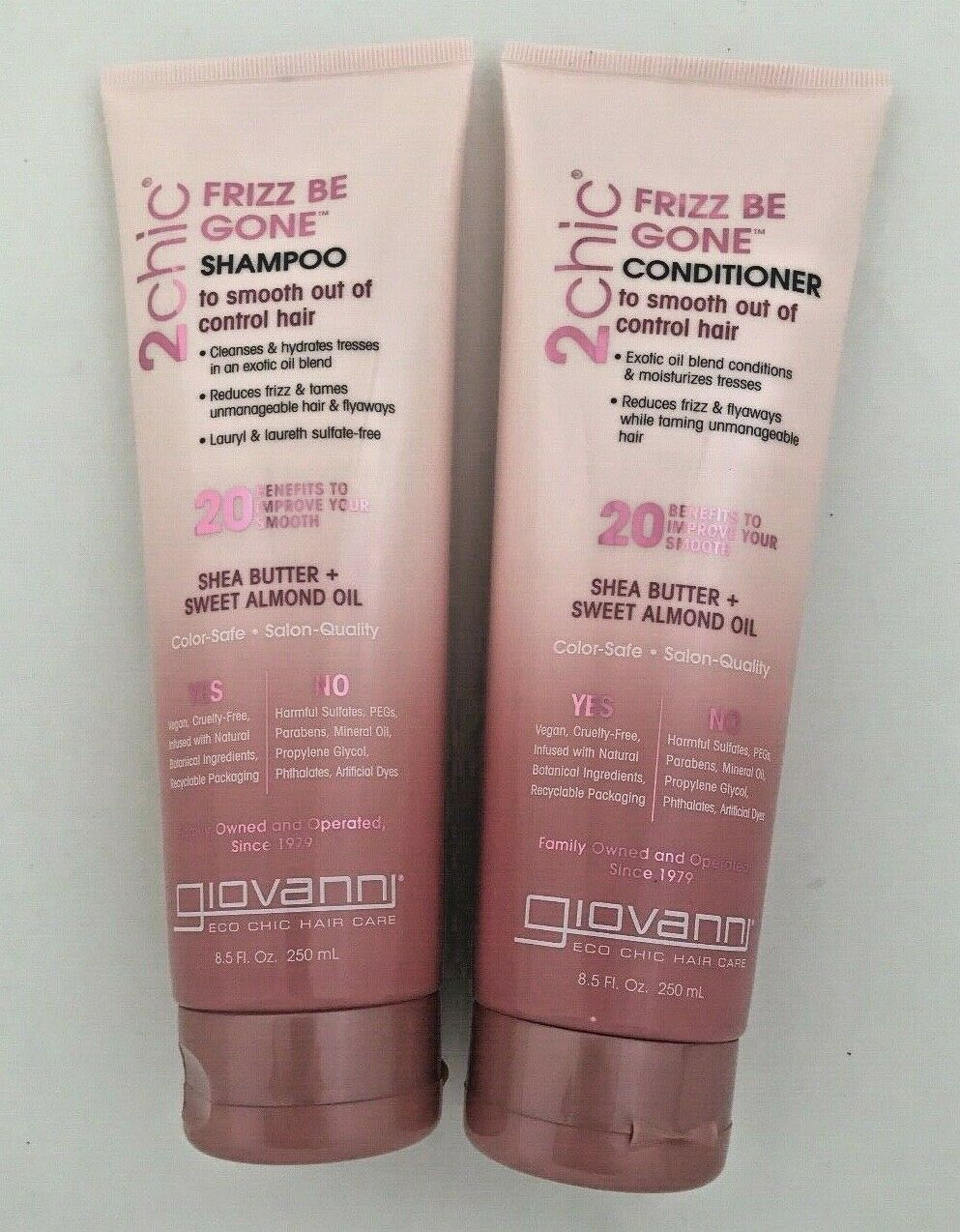 Giovanni 2 Chic Frizz be Gone shampoo & conditioner set