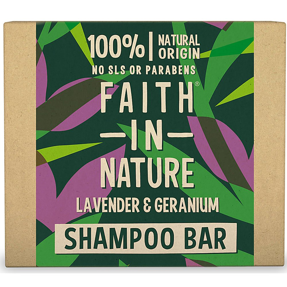 Faith in Nature SHAMPOO BAR Natural Vegan Plastic Free