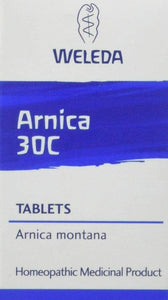 Weleda Arnica 30C Tablets bumps bruises sprains muscular pain shock