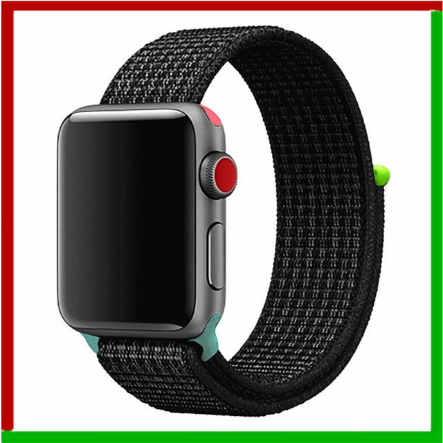 Nylon strap For Apple Watch band 42mm 38mm iWatch 4 band 44mm 40mm Bracelet Sport loop watchband watch belt Breathable 5 4 3 2 1