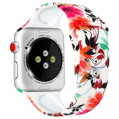 strap For Apple Watch band pulseira apple Watch 4 3 5 44mm 40mm iwatch band 42mm 38mm correa Popular Printing women bracelet 44