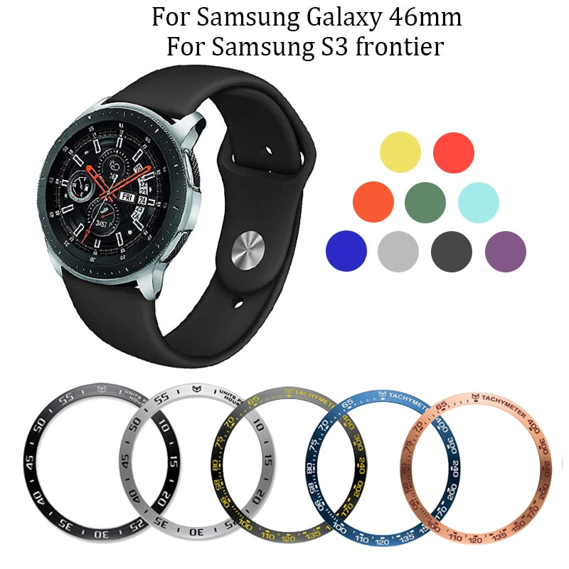 For Samsung Galaxy 46mm/Gear S3 Frontier Silicone watch band 22mm replacement watches Strap Ring Protect Case for Galaxy 46mm