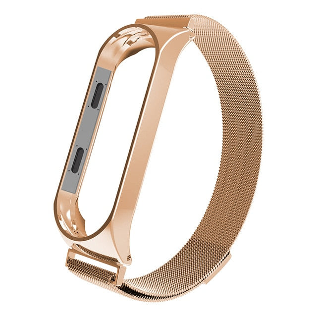 Sport Metal Bracelet for Xiaomi Band 3/4 Wrist Strap Miband 3 Wristband Smart Watch Band Mi Band3 Stainless Steel Strap for Mi4