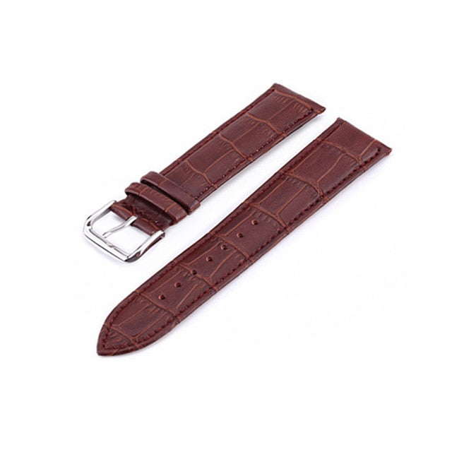 UTHAI Z08 Watch Band Genuine Leather Straps 10-24mm Watch Accessories High Quality Brown Colors Watchbands