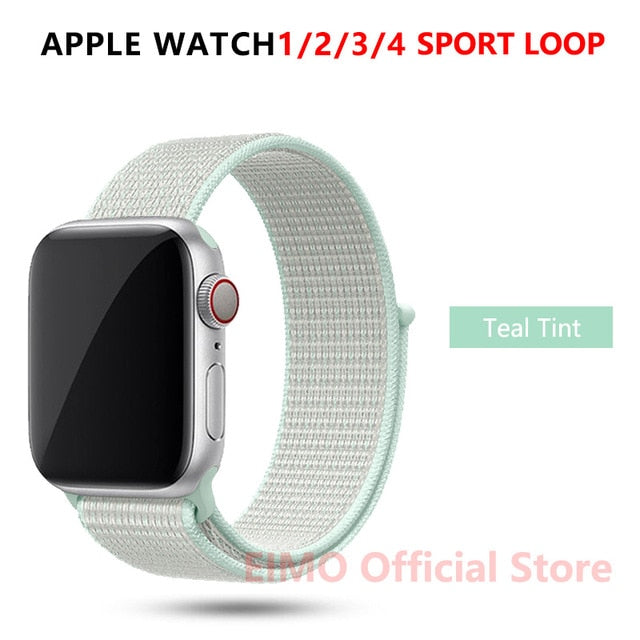 Sport Loop Strap For Apple Watch band 44 mm 40mm apple watch 4 5 3 2 iwatch band 42mm 38mm nylon correa bracelet Belt Watchband