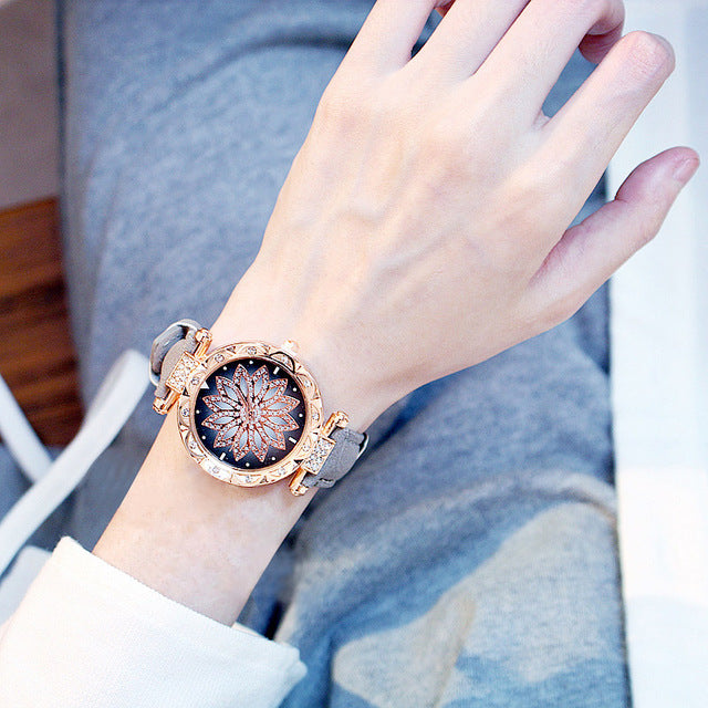 2019 Women Watches Bracelet set Starry Sky Ladies Bracelet Watch Casual Leather Quartz Wristwatch Clock Relogio Feminino