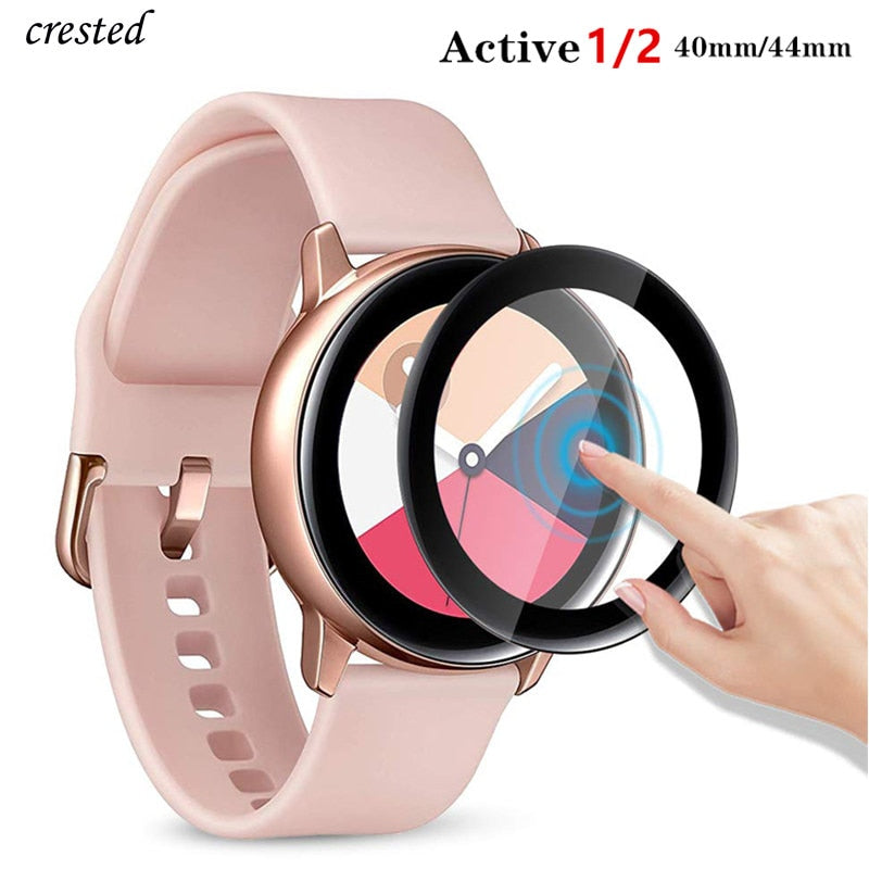 Glass For Samsung Galaxy Watch Active 2 44mm 40mm/46mm/42mm Gear S3 Frontier/S2/Sport 3D HD Full Screen Protector Film Active2
