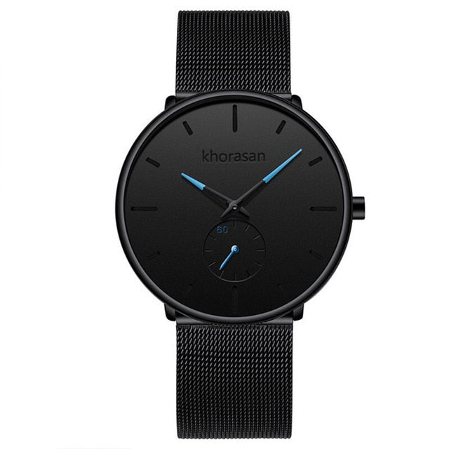 relogio masculino Men's Fashion Casual Watches Minimalist Men Business Clock Male Stainless Steel Mesh Belt Simple Quartz Watch