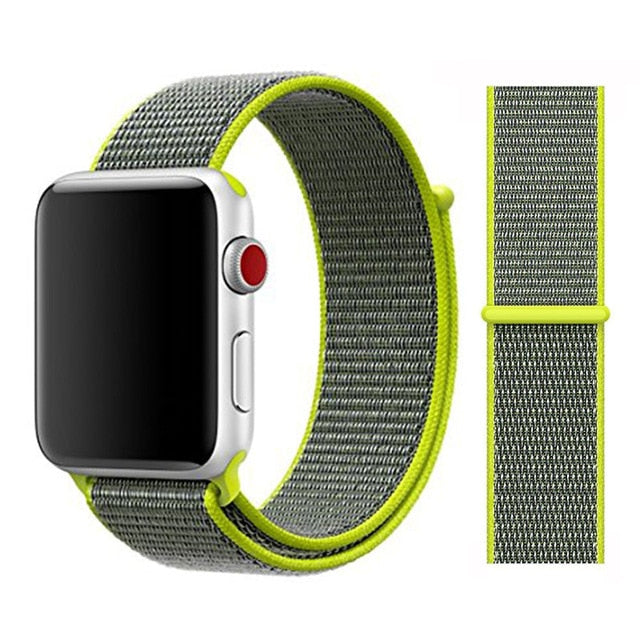 Nylon Sport Loop Soft for  iwatch Series 4/5/3/2/1 Breathable Replacement Watch Strap For Apple Watch Band 38mm/40mm/42 mm/44 mm