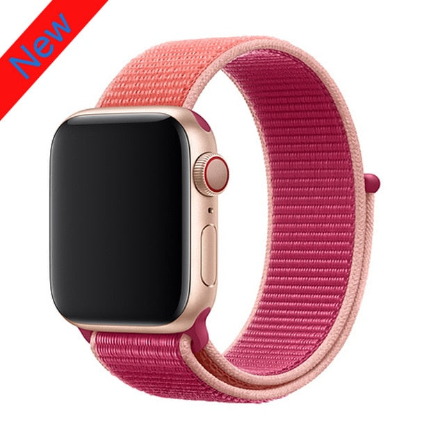 Nylon strap For Apple Watch band apple watch 5 4 3 2 44mm 40mm iWatch band 42mm 38mm correa Sport loop belt Bracelet Accessories