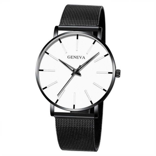 Watch Men Watch 2019 Ultra-Thin Business Men Watches Quartz Stainless Steel Band Simple Wrist Watch Male Clock Drop Shipping %