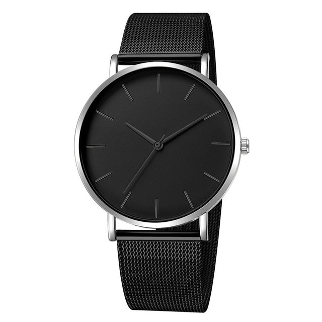 Men Simple Watches Quartz Wrist watch Man Sport Analog Wristwatch Stainless Steel Casual Bracele Watch Simple Top Brand Clock
