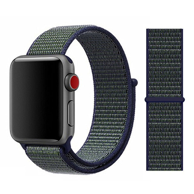 Strap For Apple Watch band 5 44mm/40mm Sport loop iwatch band 42mm 38mm correa pulseira apple watch 5 3 4 band nylon watchband