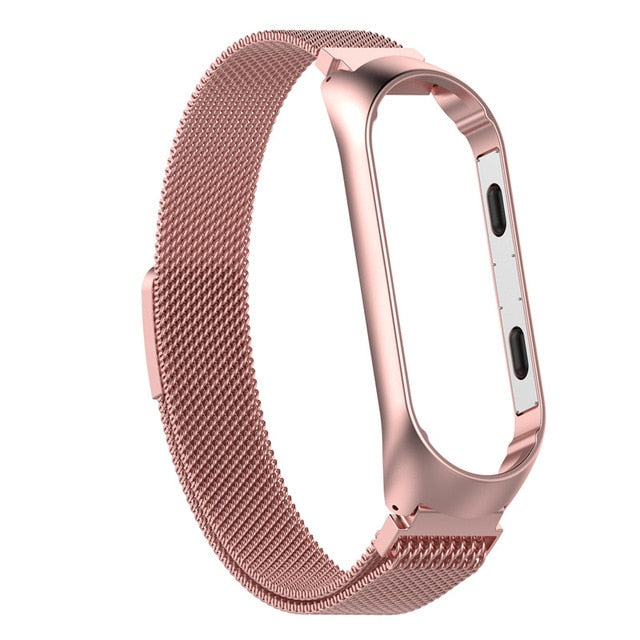 Wristband Metal Stainless Steel Strap For Mi Band 4 Xiaomi Mi Band 4 3 Wrist Watch Strap For Xiaomi Miband 3 4 Bracelet