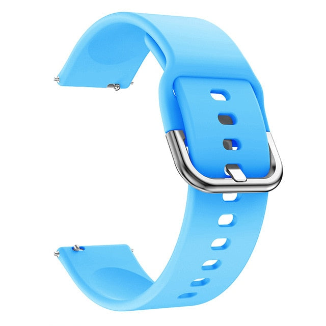 20mm Soft Silicone Watch Strap Band for Samsung Galaxy Watch 42mm Active2 40mm for Gear S2 Classic 20mm Sport Huami Amazfit