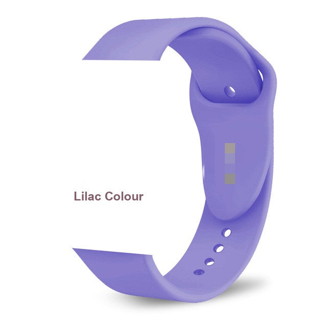2019 new band for Apple Watch 5 4 3 2 1 30 color soft Silicone Sports 38MM 42MM Bands Rubber Strap for Iwatch series 4 40mm 44mm