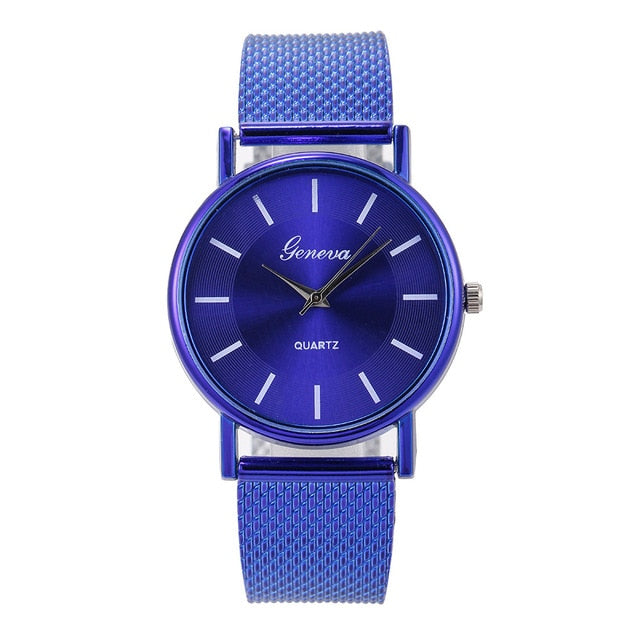 Women's Watches Quartz Watch Woman's gold Rose High-end Blue Glass Life Waterproof reloj mujer saat relogio zegarek damski