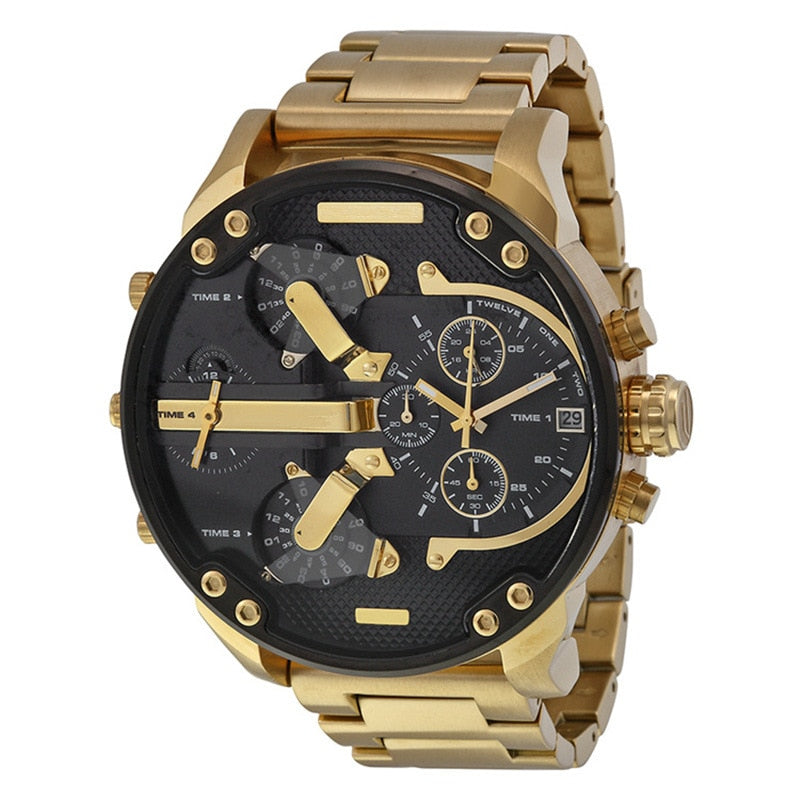 DZ73 Currently Available MEN'S Watch Cool Large Dial Trend Watch Stainless Steel Belt Quartz Watch a Generation of Fat
