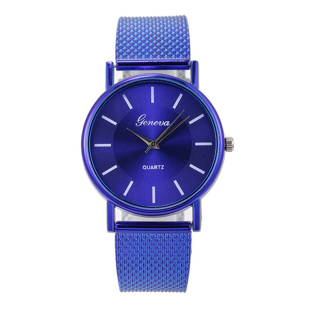 Clock Women Wrist Watch montre femme reloj mujer Ladies Watch NEW Luxury Ladies Designer Blue Glass Waterproof Quartz Watch %