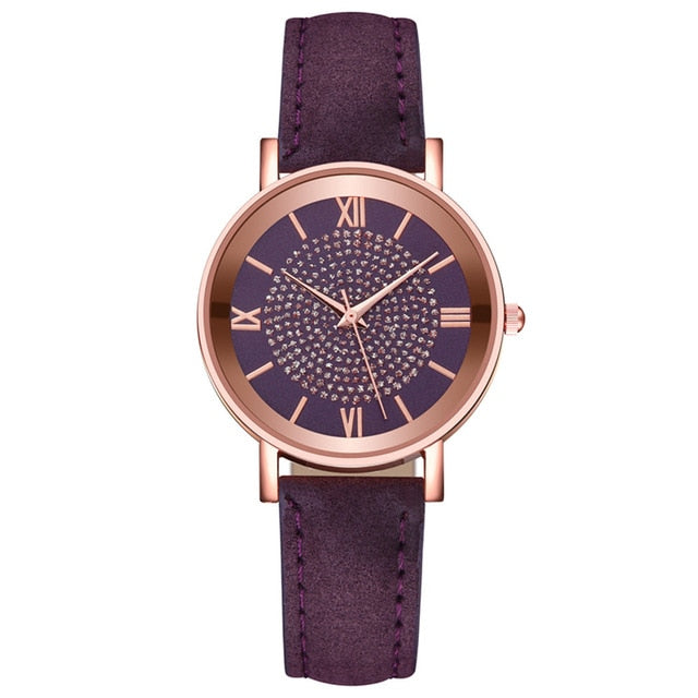 DUOBLA Luxury women watches Fashion quartz wristwatches Watch Women Leather Strap Stainless Steel Dial Casual Geneva Watch
