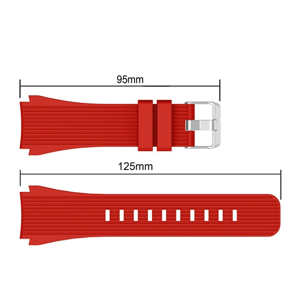 Sport Soft Silicone bracelet Wrist Band for Samsung Galaxy Watch 46mm SM-R800 Replacement Smart watch Strap Wristband Watchband