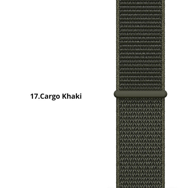 20mm Nylon Loop Band For Amazfit Bip Strap band Replace for Xiaomi Huami Amazfit Band Bracelet Woven Nylon Amazifit Bip Strap