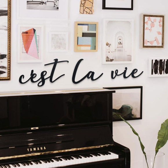 C'est La Vie Metal Decor | Decoraline