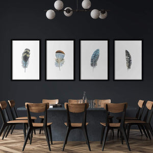 Feathers Poster Set | Decoraline