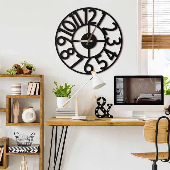 Hanlin Metal Clock | Decoraline