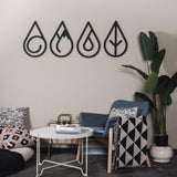 Four Elements Metal Decor | Decoraline
