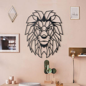 Lion Head Metal Decor | Decoraline