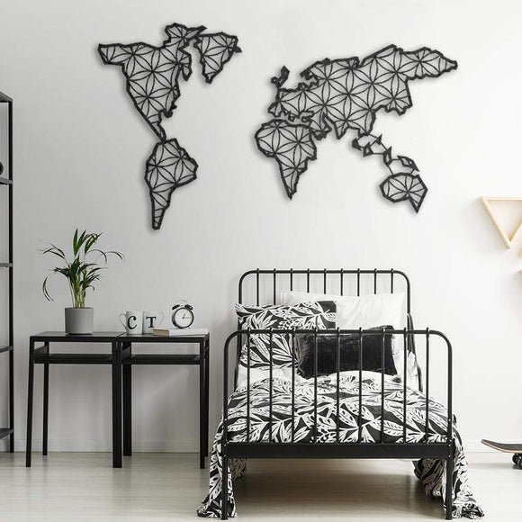 Liv World Map Metal Decor | Decoraline