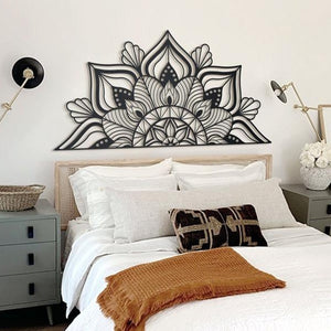 Sutra Black Mandala Metal Decor | Decoraline