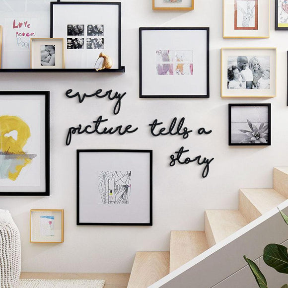 Every Picture Tells A Story Metal Decor | Decoraline