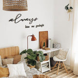 Always Kiss Me Goodnight Metal Lettering | Decoraline